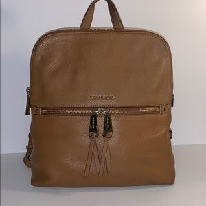 Michael Kors Tan Leather Backpack bag